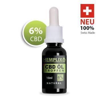 CBD Öl 6% 10 ml.
