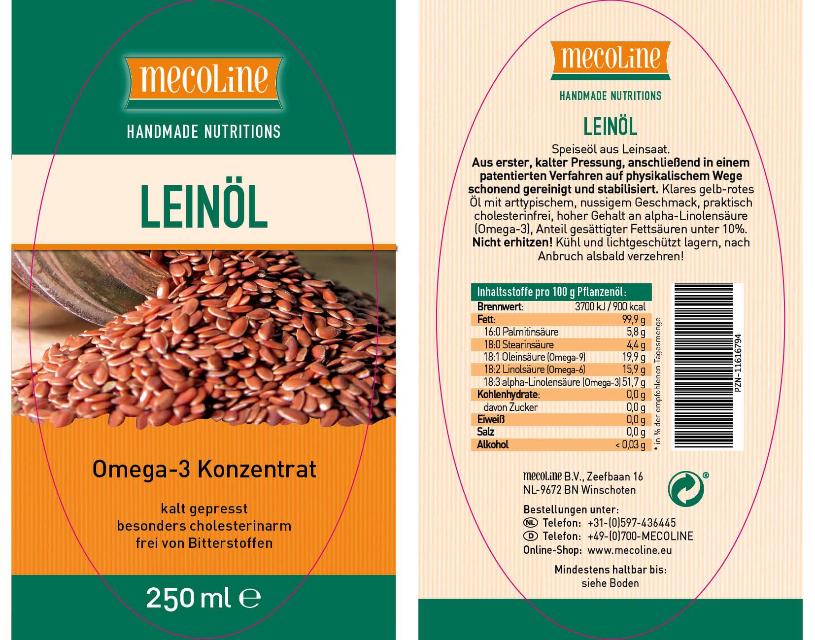 Leinöl (Alpha Linum® 250ml.